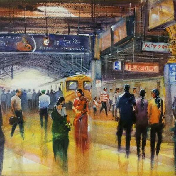 People maze at CST, Mumbai